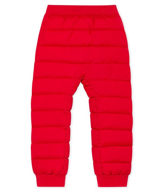 Pantalón infantil en cálido plumón unisex rojo Terkuit