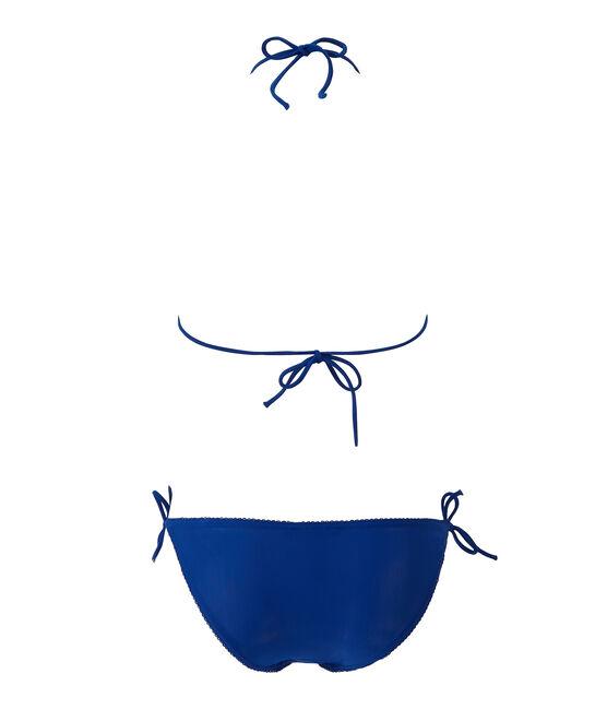 Bikini para mujer liso azul Perse