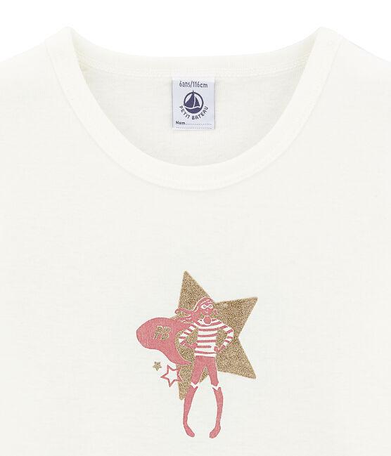 Camiseta de manga corta blanco Marshmallow
