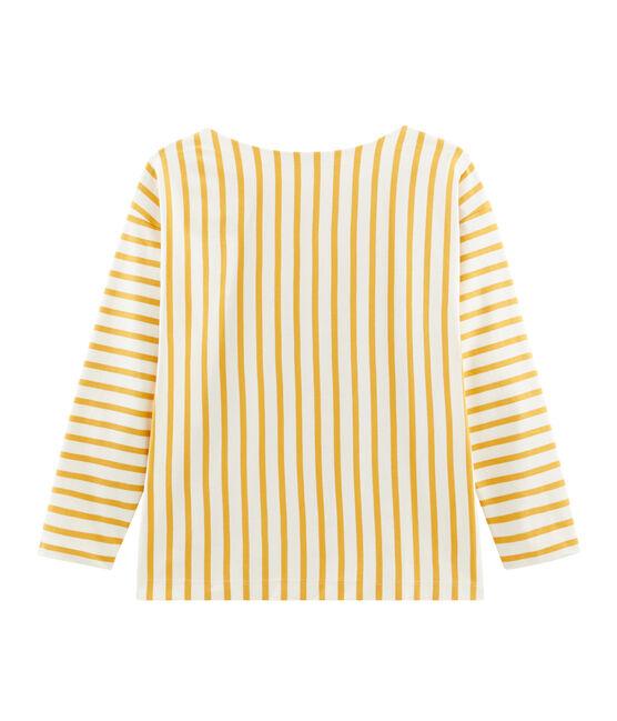 Marinera gráfica para mujer beige Coquille / amarillo Boudor