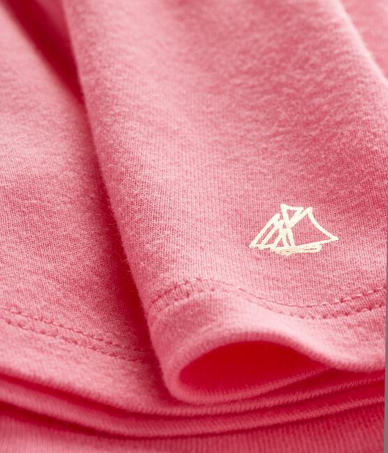 Blusa de manga corta lisa para bebé niña rosa Cupcake