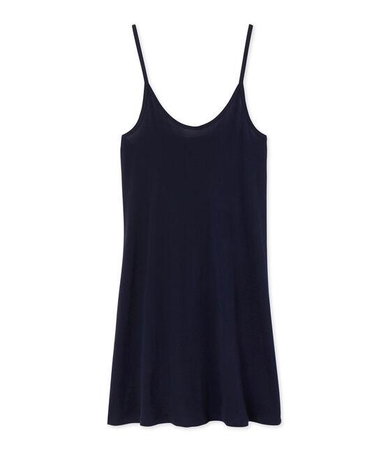 Chemise à bretelles femme en coton léger azul Smoking