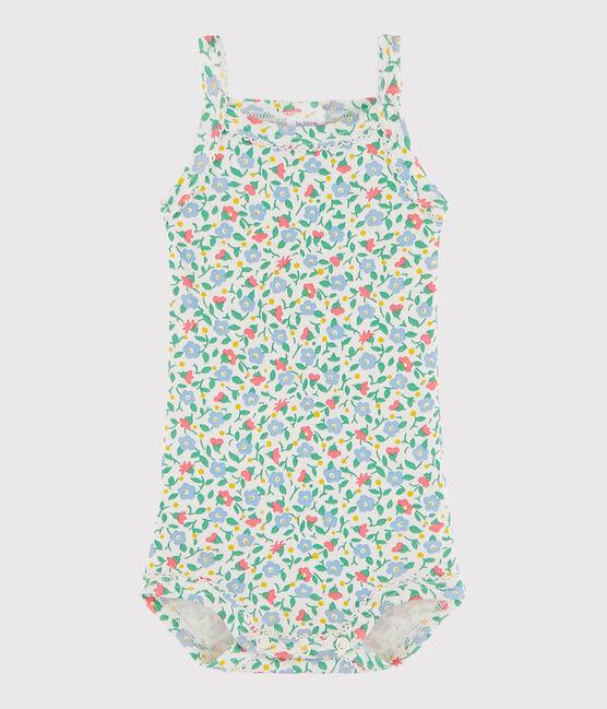 Bodi de tirantes de bebé de niña blanco Marshmallow / blanco Multico