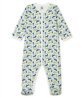 Pijama de muletón para bebé de niño blanco Marshmallow / blanco Multico