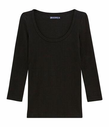 Camiseta icónica de mujer negro Noir