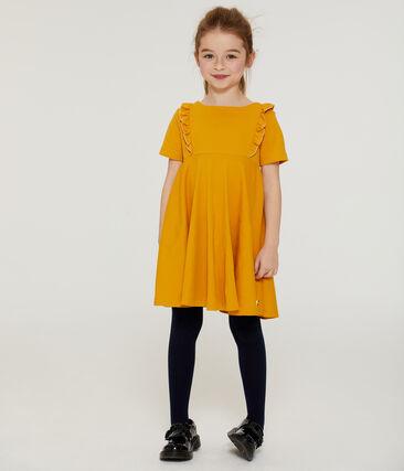 Vestido de manga corta para niña amarillo Boudor