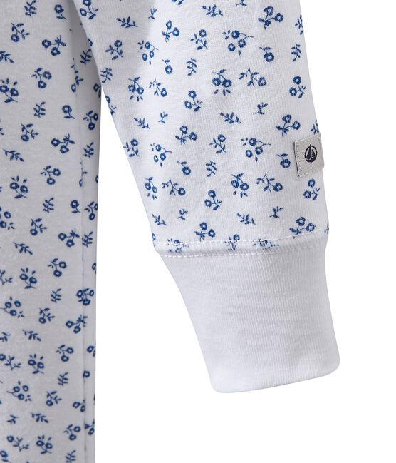 Pelele pijama estampado para niña blanco Ecume / azul Bleu