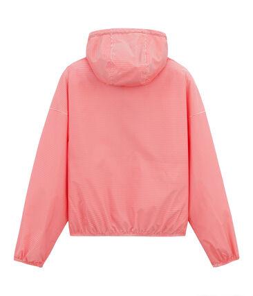 Cortavientos corto unisex rosa Petal / azul Crystal