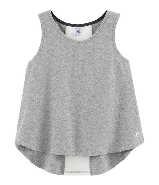 Camiseta de tirantes deportiva para niña gris Subway