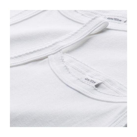 Lote de 2 camisas de tirantes blancas lisas niña lote .