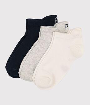 Lote de 3 pares de calcetines cortos de niña/niño lote .