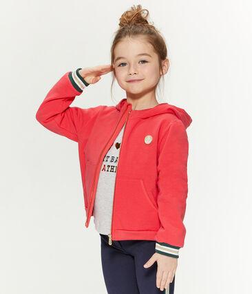 Sudadera con capucha para niña rojo Signal