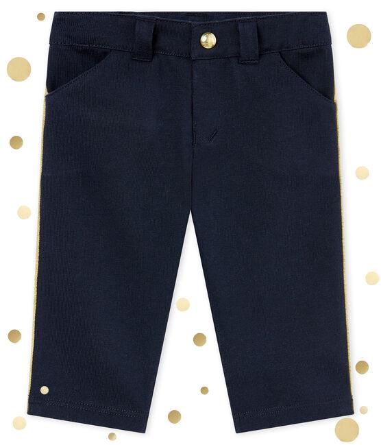 Pantalón para bebé niño en maya azul Smoking