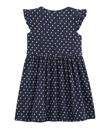 Vestido de niña azul Smoking / blanco Multico