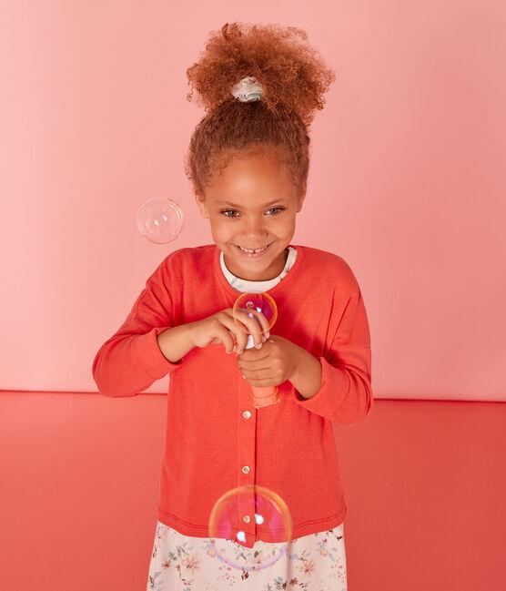 Cárdigan infantil para niña rosa Groseiller