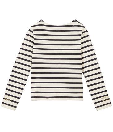 Marinera de manga larga con jersey gordo para niña