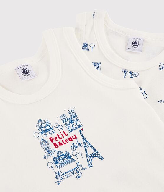Lote de 2 camisetas de tirantes París para niño pequeño lote .