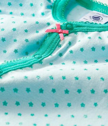 Pelele corto de punto para bebé de niña verde Amandier / verde Esperanza Brillant