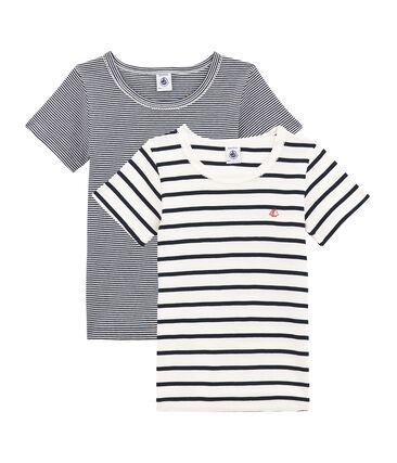 Par de camisetas manga corta para chica