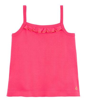 Camiseta de tirantes para niña rosa Geisha