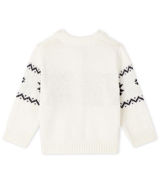 Cárdigan de bebé unisex blanco Marshmallow / blanco Multico