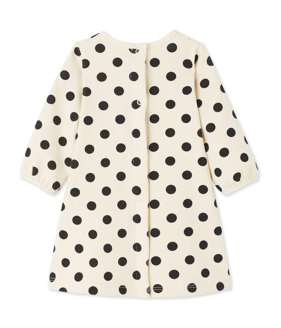 Robe bébé fille à pois beige Coquille / gris Capecod