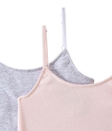 Pack de 2 camisetas de tirantes para niña
