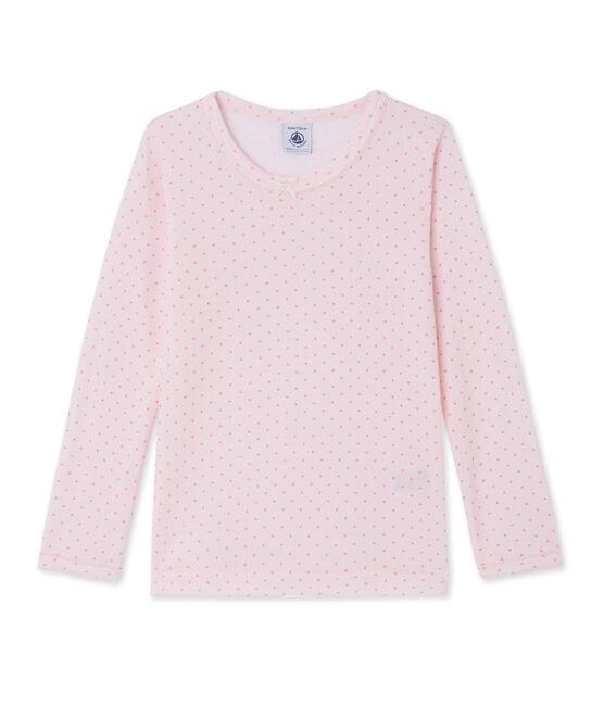 Camiseta de lana y algodón para niña rosa Vienne / rosa Gretel