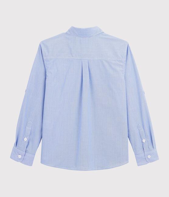 Camisa a rayas de niño azul Bleu / blanco Blanc