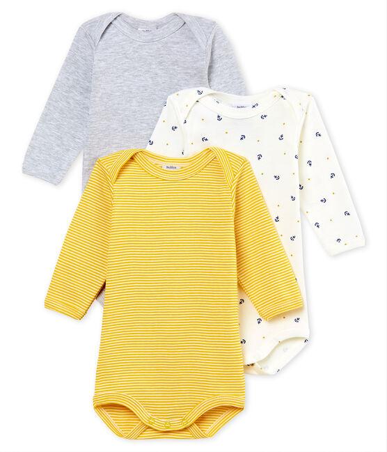 Tres bodis manga larga para bebé niño lote .