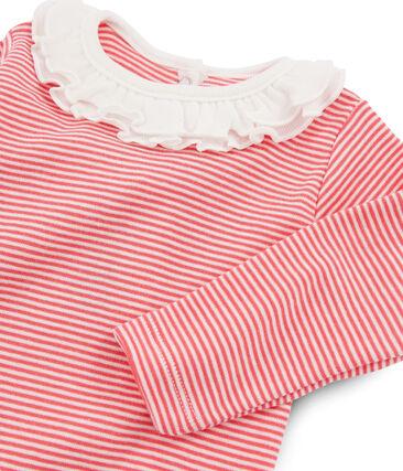 Body de manga larga lisa con cuello isabelino para bebé niña