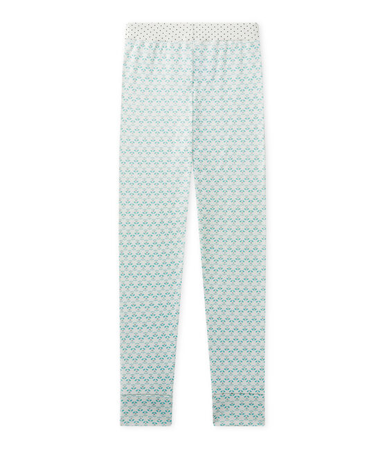 Pantalón de pijama para niña blanco Lait / verde Vert