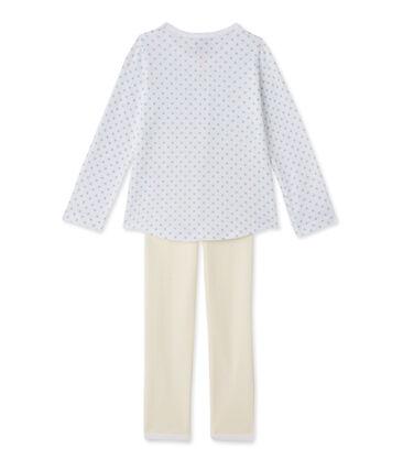 Pijama con estampado y rayas para niña