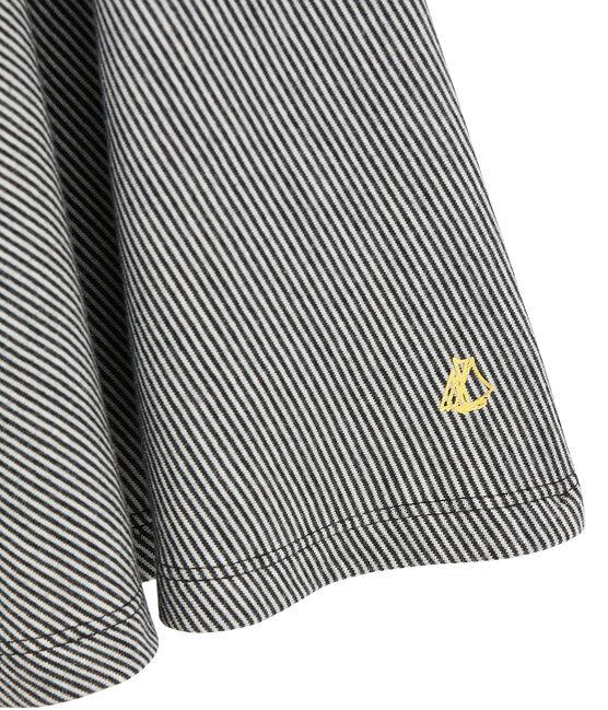 Vestido de niña milrayas negro City / blanco Marshmallow