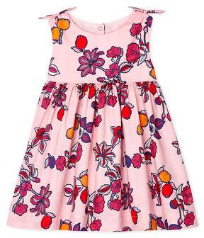 Vestido estampado sin mangas para bebé niña rosa Merveille / blanco Multico