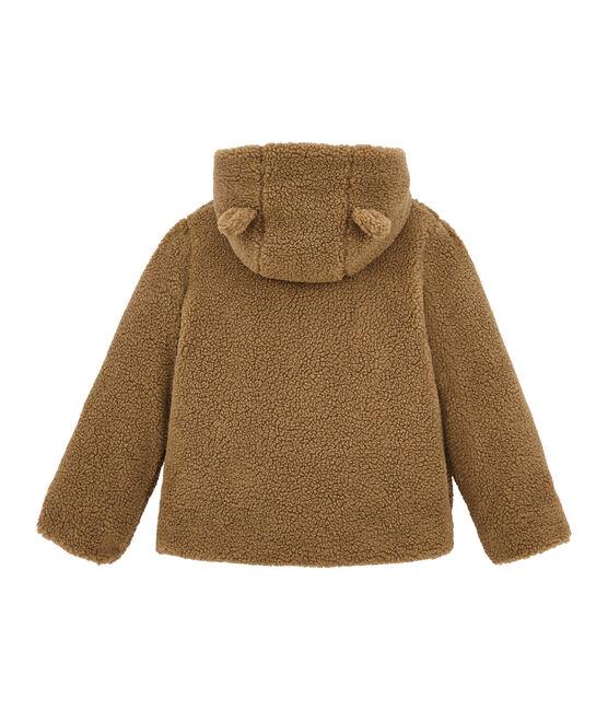 Chaqueta para niña en sherpa marrón Brindille