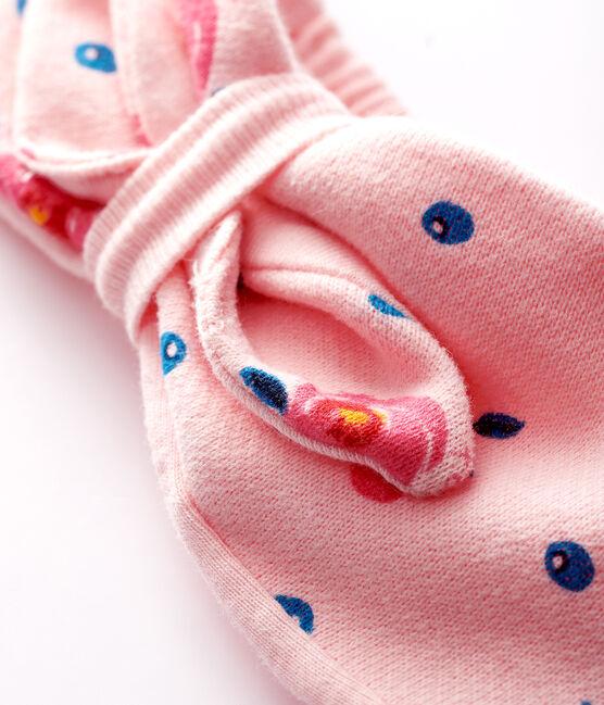 Diadema con nudo para bebé niña rosa Minois / blanco Multico