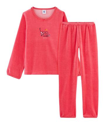 Pijama de punto de terciopelo rojo Signal