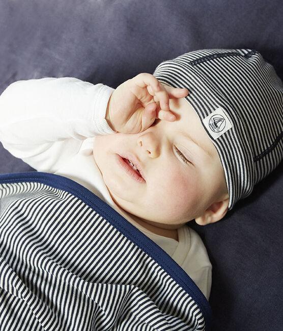 Gorro de nacimiento antiondas azul Smoking / blanco Ecume
