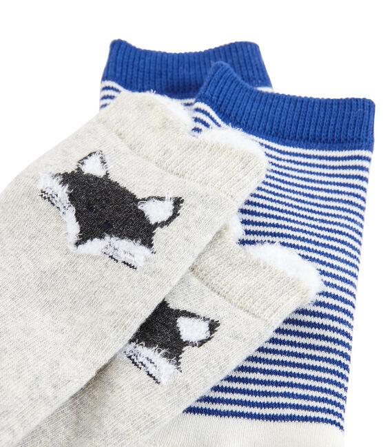 Lote de 2 pares de calcetines para bebé unisex gris Beluga