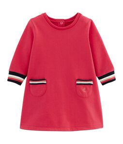 Vestido de manga larga para bebé niña rojo Signal