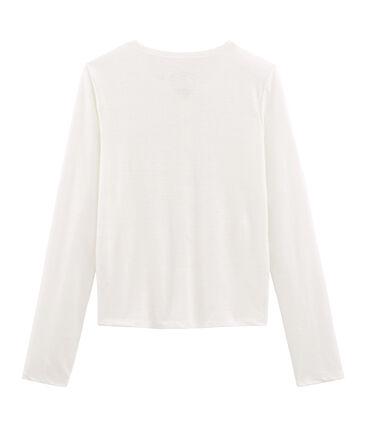 Cárdigan de lino para mujer blanco Marshmallow