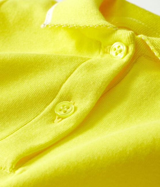 Vestido de polo para bebé niña amarillo Eblouis