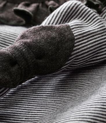 Vestido a rayas y diadema para bebé niña
