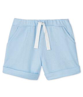 Pantalón corto de malla para bebé niña - niño azul Fraicheur