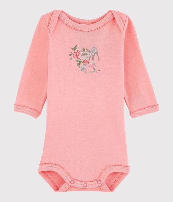 Bodi de manga larga de bebé niña rosa Gretel