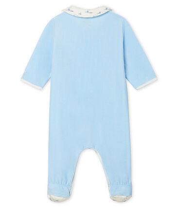 Pelele de terciopelo para bebé niño azul Toudou