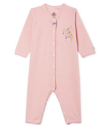 Pijama sin pies de punto para bebé niña rosa Charme / blanco Marshmallow