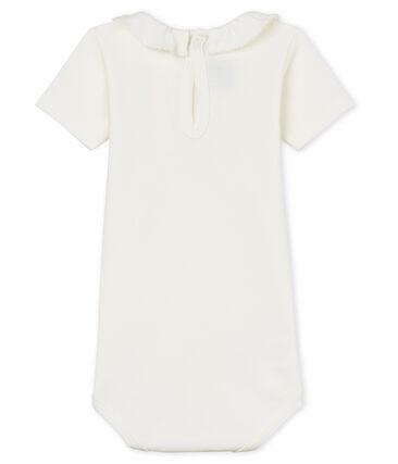 Body manga corta con collarín para bebé niña blanco Marshmallow