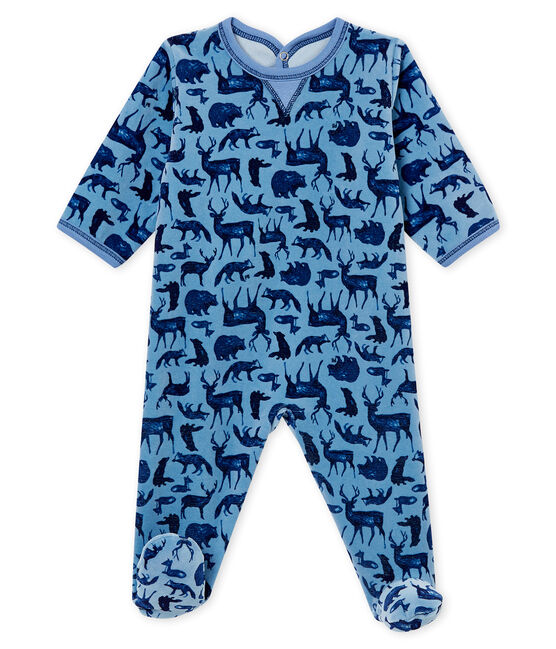 Pelele de noche para bebé niño azul Alaska / blanco Multico